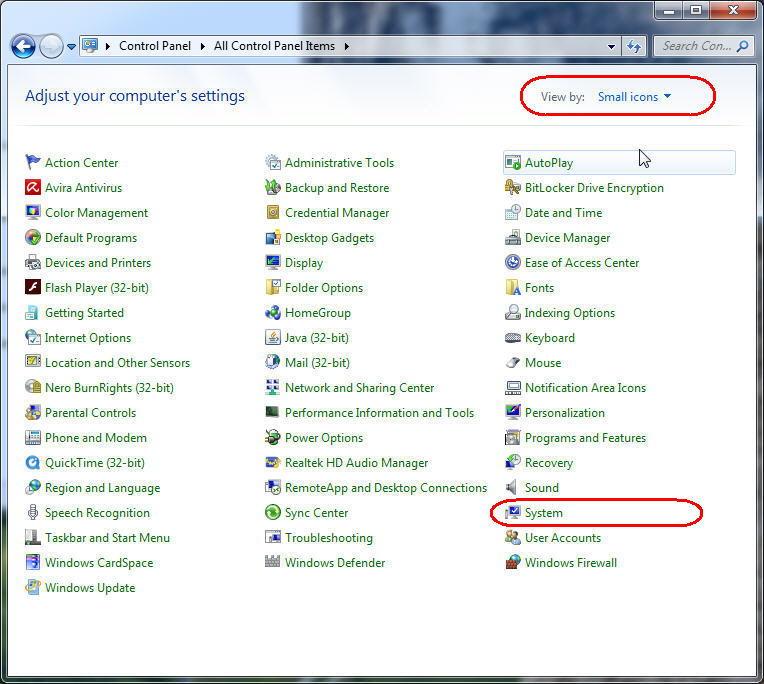 تنظیمات پرت کام در ویندوز بویژه برای دستگاه کالرآی دی