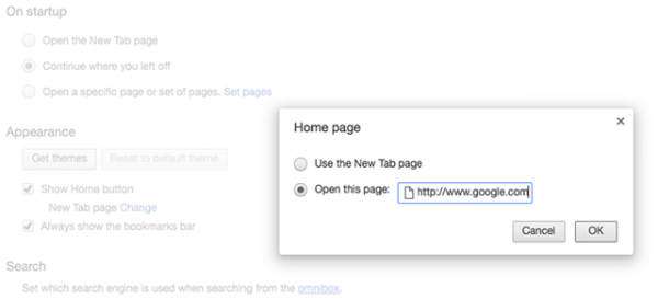 آموزش تنظیم صفحه خانگی برای مرورگر های کروم، فایرفاکس و سافاری