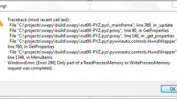 آموزش رفع خطای Only a part of Read Process Memory or Write Process Memory was completed
