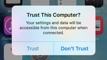 آموزش Untrust کردن کامپیوتر بر روی آیفون و آی پد