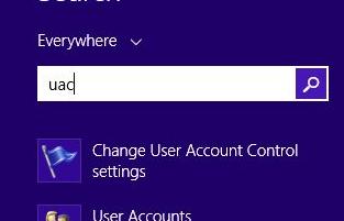 تغییر تنظیمات سطح دسترسی کاربر ویندوز