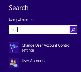 User Account Control - UAC - Change Notification Settings