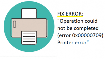 رفع خطای Operation could not be completed error 0x00000709 در پرینتر