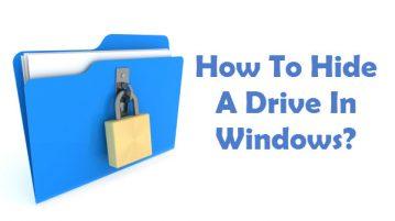 آموزش مخفی کردن یک درایو در ویندوز