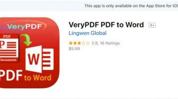 تبدیل فایل های PDF به WORD در گوشی موبایل